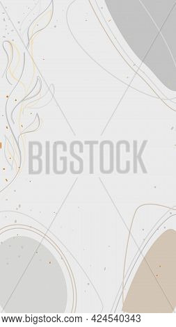 Vector Abstract Background In Beige Tones For Invitations, Business Cards, Story Background, Story T