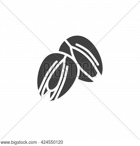 Pistachio Nuts Vector Icon. Filled Flat Sign For Mobile Concept And Web Design. Pistachio Snack Glyp
