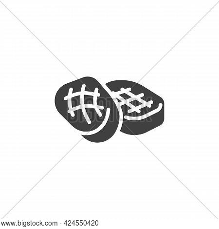 Bbq Steak Vector Icon. Filled Flat Sign For Mobile Concept And Web Design. Beef Steak Glyph Icon. Sy