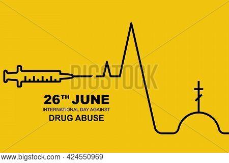 International Day Against Drug Abuse. June 26 Landing Page Against Drug Use And Distribution. Minima