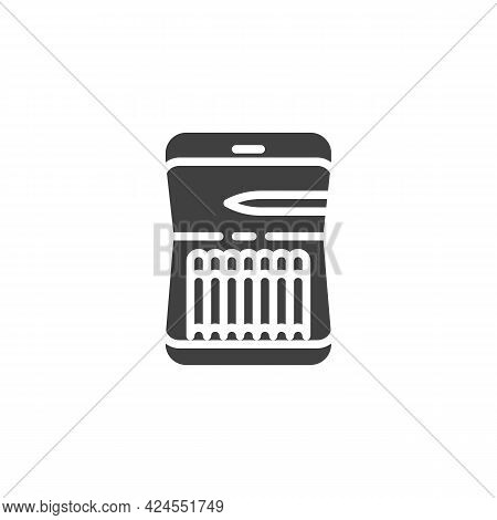 Cigar Case Vector Icon. Filled Flat Sign For Mobile Concept And Web Design. Cigarette Case Glyph Ico