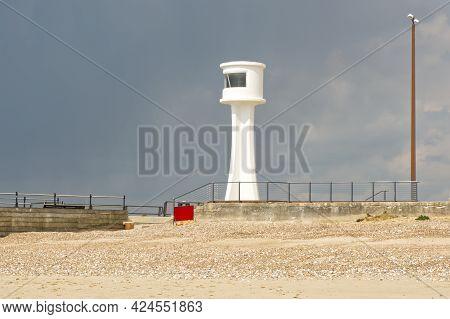 Lighthouse At Harbour Entrance, Littlehampton, West Sussex, England
