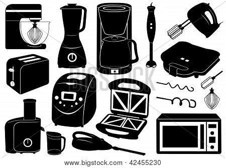 Set of kitchen appliances