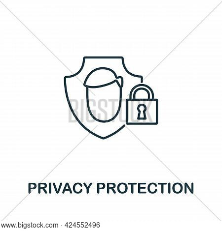 Privacy Protection Icon From Authentication Collection. Simple Line Element Privacy Protection Symbo