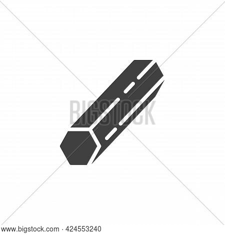 Metal Rod Vector Icon. Filled Flat Sign For Mobile Concept And Web Design. Iron Steel Bar Glyph Icon