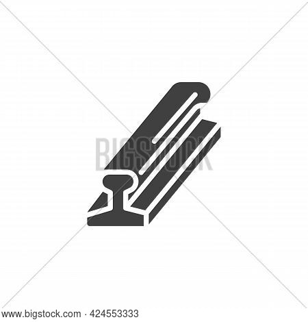 Rolled Metal Rails Vector Icon. Filled Flat Sign For Mobile Concept And Web Design. Rail Steel Glyph