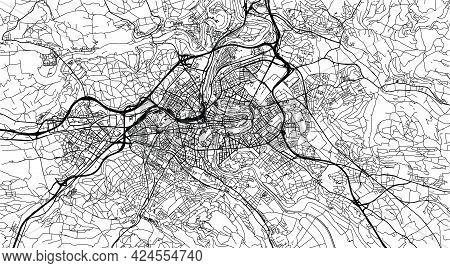 Urban Vector City Map Of Bern, Switzerland, Europe