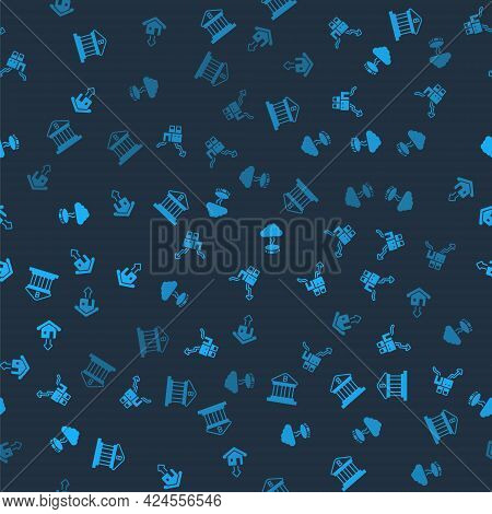 Set Bank Building, Shutdown Of Factory, Storm And Falling Property Prices On Seamless Pattern. Vecto