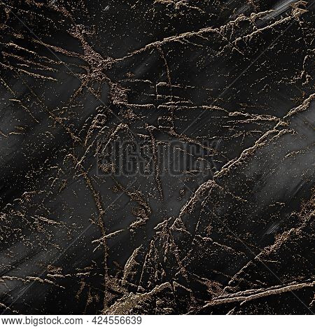 Gold Black Marble Texture , Digital Patterned Natural Stone Background, Dark Gray Slab Marble Produc