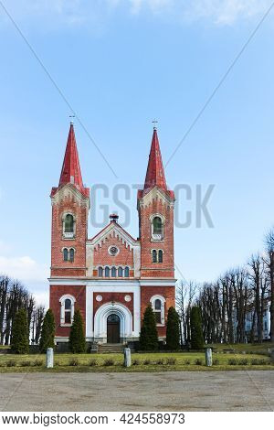 St. Martin's Lutheran Church In Riga, The Capital Of Latvia. It Is A Parish Church Of The Evangelica