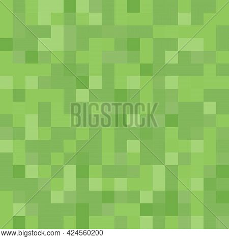 Pixel Background. The Concept Of Games Background. Squares Pattern Background. Minecraft Concept. Ve