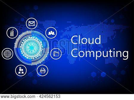Graphics Diagram Cloud Computing Concept Infrastructure Link Access Data Management Vector Illustrat