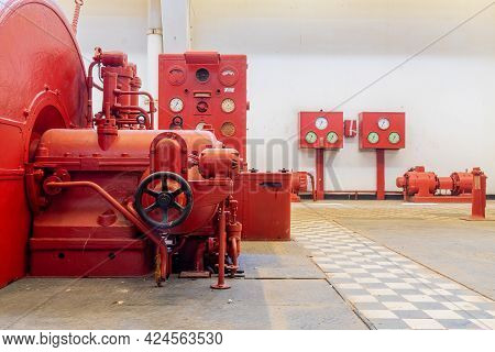 Tel-aviv, Israel - June 17, 2021: View Of Old Control Panels In The Historic Reading A Power Station