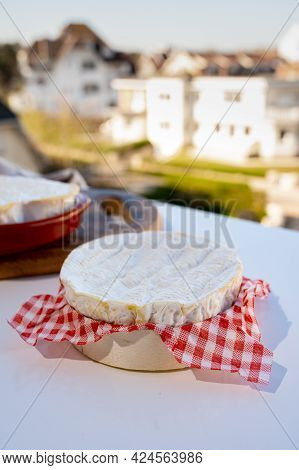 Cheese Collection, French Cheese From Normandy Region, Round Camembert And Heart-shaped Neufchatel