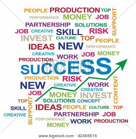 many  conceptual idea for success in business poster