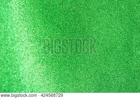 Abstract Green Trendy Backdrop. Bright Holographic Foil Background. Colorful Bright Background. Flat
