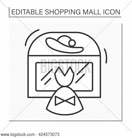 Fashion Boutique Line Icon. Small Store That Sells Stylish Clothing And Luxury Goods. Modern, Casual