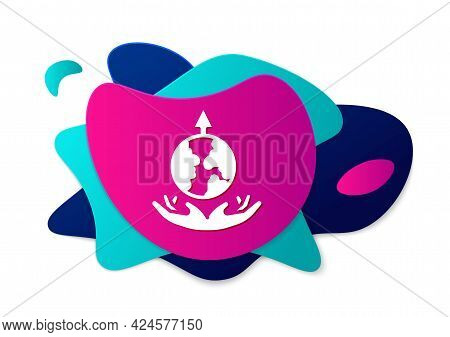 Color World Expansion Icon Isolated On White Background. Abstract Banner With Liquid Shapes. Vector