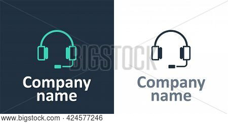 Logotype Headphones Icon Isolated On White Background. Earphones. Concept For Listening To Music, Se