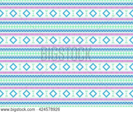 Ethnic Seamless Pattern Elements Collection In Bright And Beautiful Colors. Can Use Geometric Patter
