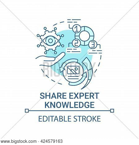 Share Expert Knowledge Concept Icon. Viral Content Method Abstract Idea Thin Line Illustration. Expe