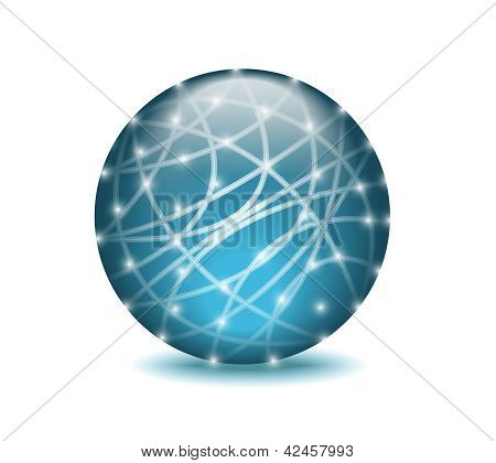 ?networking Blue Sphere