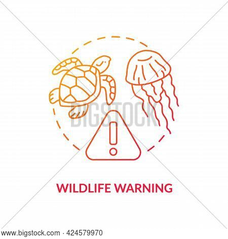 Wildlife Warning Concept Icon. Safe Beach Abstract Idea Thin Line Illustration. Giving First Aid For