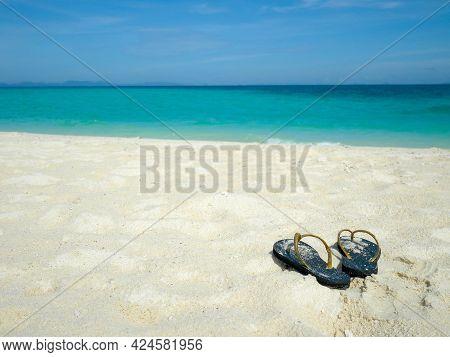 Flip-flop On The Beach. Bamboo Island, Krabi