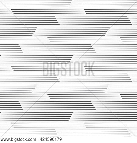 Vector Pattern, Repeating Abstract Line Texture On Triangle Shape. Pattern Is Clean For Fabric, Wall