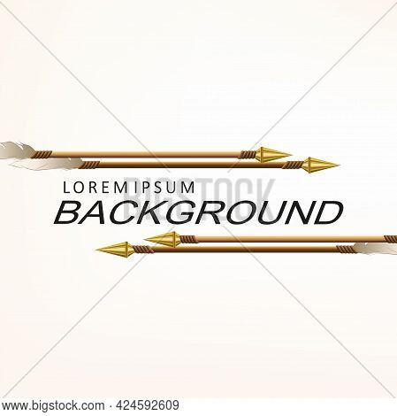 Drawing Arrows Drawn Obliquely, Golden Tip Design Component