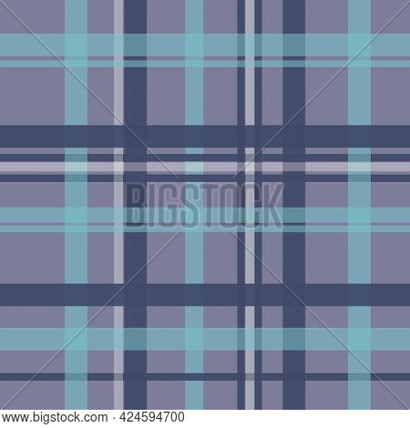 Blues Plaid Seamless Vector Repeat Masculine Surface Design