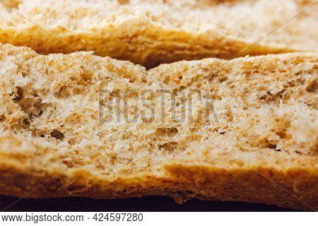 Brown Bread Texture.sliced Black Bread Texture.pores Of Bread