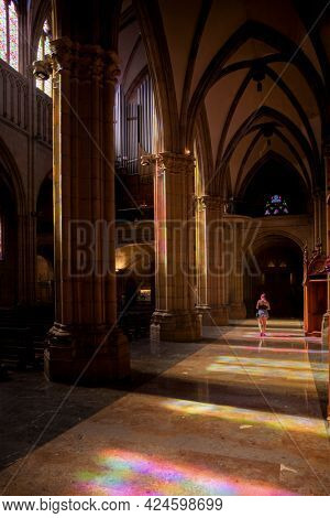 San Sebastian Cathedral (Buen Pastor) interior view with divine light