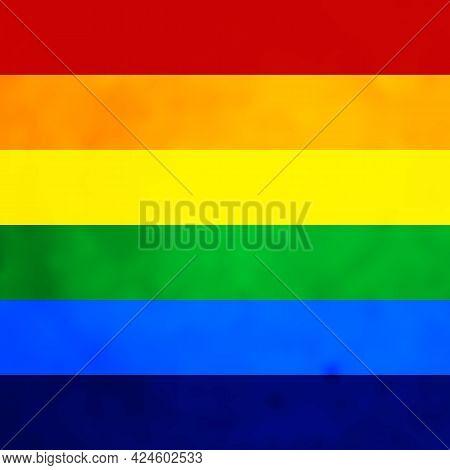Pride Month Banner On Gradient Rainbow Background. Lgbt Flag. Template Design, Vector Illustration.