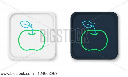 Line Apple Icon Isolated On White Background. Excess Weight. Healthy Diet Menu. Fitness Diet Apple.