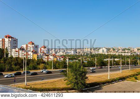 Belgorod, Russia - September 12 2020: View Of The City Center From Vatutin Prospect. City Skyline.