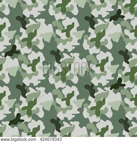 Beautiful Camouflage Seamless Pattern. Military Design. For Printing On Packaging, Textiles, Paper,