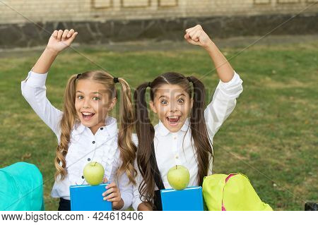 Food Knowledge Is Health Power. Happy Kids Celebrate Knowledge Day. Back To School. September 1. Sch