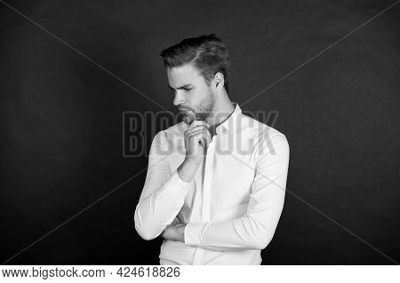Negative Effects Of Unemployment. Personal Crisis. Crisis Problem. Businessman Formal Outfit. Confid