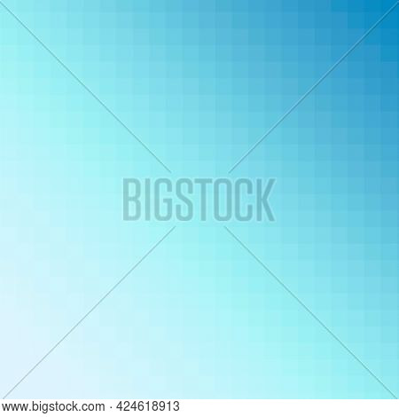 Ombre blue mosaic patterned background illustration