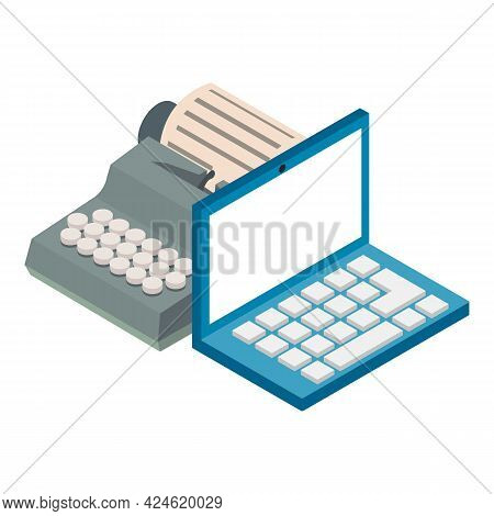Device Evolution Icon. Isometric Illustration Of Device Evolution Vector Icon For Web