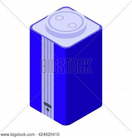 Smart Speaker Icon Isometric Vector. Ai Voice Device. Speaker Assistant Control