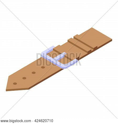Wristwatch Strap Icon Isometric Vector. Smart Watch Band. Leather Bracelet