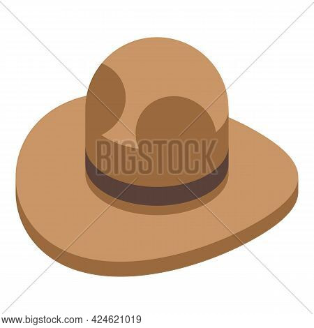 Scouting Hat Icon Isometric Vector. Scout Ranger Uniform. Canada Camp Kid Hat