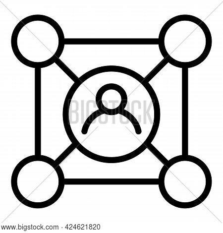 Narrow Market Avatar Icon. Outline Narrow Market Avatar Vector Icon For Web Design Isolated On White