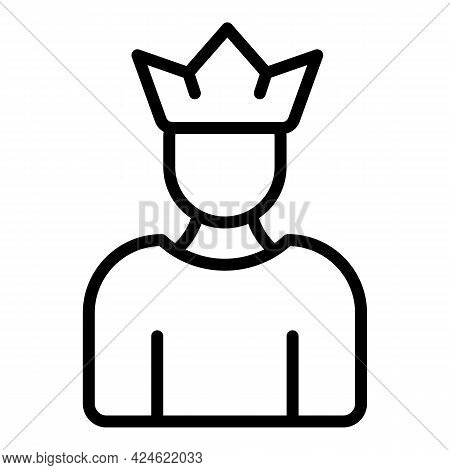 Narcissism King Icon. Outline Narcissism King Vector Icon For Web Design Isolated On White Backgroun