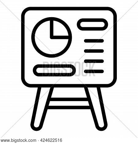 Late Work Banner Icon. Outline Late Work Banner Vector Icon For Web Design Isolated On White Backgro