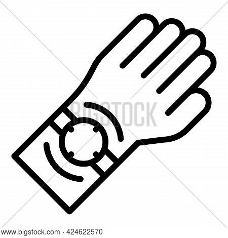 Late Work Hand Watch Icon. Outline Late Work Hand Watch Vector Icon For Web Design Isolated On White