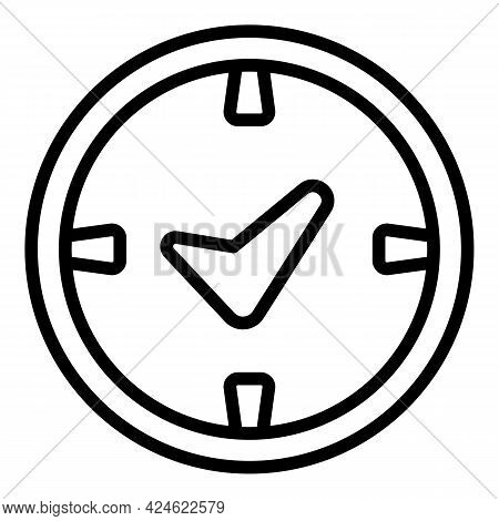 Late Work Time Icon. Outline Late Work Time Vector Icon For Web Design Isolated On White Background