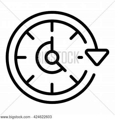 Late Work Hours Icon. Outline Late Work Hours Vector Icon For Web Design Isolated On White Backgroun